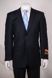 Navy Tone on Tone Modern Fit 2 Button Vented without pleat flat