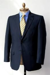 &amp Tall XL Mens 2 Button Single Breasted Wool Suit Navy