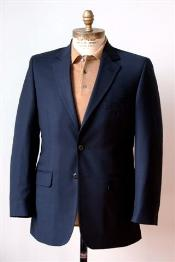 & Tall XL Mens 2 Button Single Breasted Wool Suit Navy