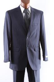 Dark Navy 2 Button Wool Dress Suit