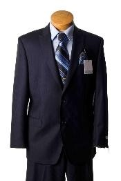 Separate Mens 2 Button Dark Navy Pinstripe Slim Fit Designer Suit