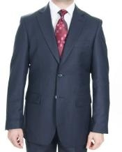 2 Button Dark Navy patterned Suit