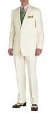 Mens Suit Ivory 2-Button Style Perfect For Wedding Jacket and Pants