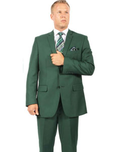2 Button Hunter ~ Dark Army Green ( Olive ) Suit