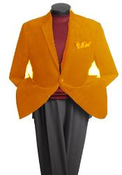 Mens 2 Button Classic Cotton/Rayon Blazer Orange