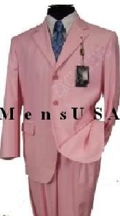 MUP3 Beautiful Mens 2 Button Light Pink Fashion Dress With Nice Cut