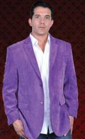 Mens 2 Button Sport Coat Side Vents Purple