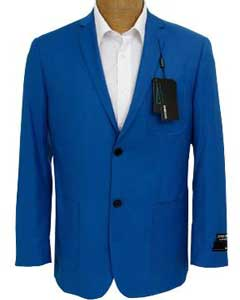 Mens Solid Royal Blue Sport Coat Jacket Cheap Priced Unique Fashion Designer