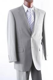 2 Button 100% Wool Suit W Single Pleat Pants greenish color