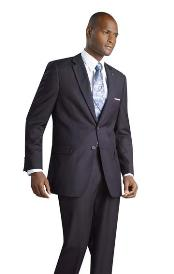 Button Shiny Flashy Metalic Silk Touch Midnight Dark Navy Suit