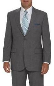 2 Button Peak Lapel Jacket Flat Front Pants Light Silver Gray tapered