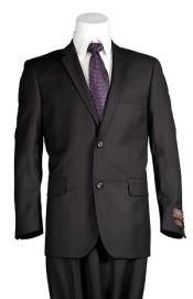 Black Windowpane 2 Button Mens Slim Cut Suit