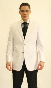2 Button White Dinner Jacket Blazer