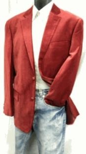 2 Button Mens Wine Velvet Blazer Coat
