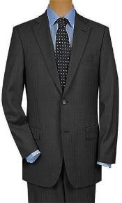 Button Super 150s Wool Luxury Gray Shadow Stripe ~ Pinstripe Suit