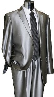 shiny silver suit