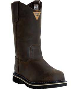 "Industrial-11"" Safety Toe Wellington MR85344 Dark Brown"
