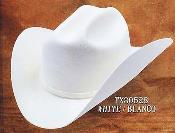 Cowboy Western Hat 4X Felt Hats White
