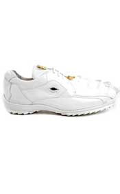 Belvedere Exotic Skin Brand Genuine White Hornback Crocodile and Soft Calf Leather Lining Shoe