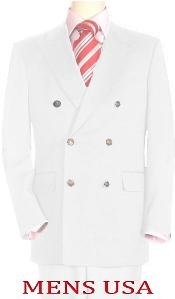 High Quality Snow White Mens Double Breasted Suits Jacket Blazer Dinner
