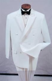Double Breasted Suit with a Peak Lapel Fashion Tuxedo For Men
