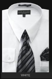 TIE - White Mens Dress Shirt