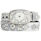 White Original Eel Skin Fashion Western Belt