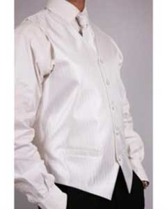 Mens White Four-Piece Vest Set Also available in Big and Tall Sizes