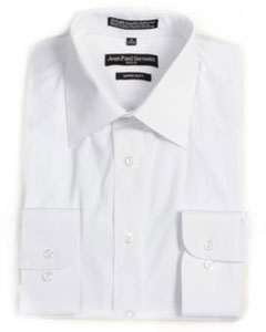 White Convertible Cuff Big &amp Tall Dress Shirt