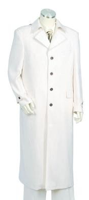 Urban Styled Suit with Full Length Jacket Off White