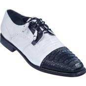 & Gator Tip Dress Shoe - White