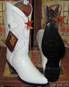 Los Altos White Genuine Full Quill Ostrich Western Cowboy Boot