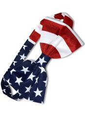 White/Red/Blue Polyester American Flag USA Patriotic Bowtie