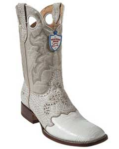 Wild West White Shark Wild Rodeo Toe Boots