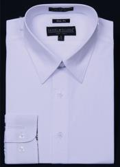 Slim Fit Dress Shirt - White Color