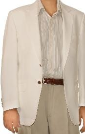 White Spring/Summer Mens Two Button Cheap