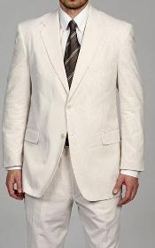 Button Vented Seersucker Sear sucker suit Suit (Jacket + Pants) Available