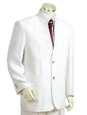 Mens Two Button Suits White