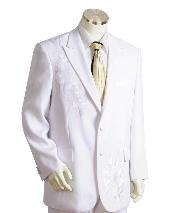 Two Button Suits White Leisure Casual Suit For Sale
