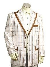 3 Buttons Suits For Men Style Comes in White Coffee