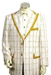 3 Buttons Suits For Men Style Comes in White Gold Color