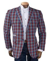 Mens Checker ~ Plaid ~ Windowpane Mens Blazer ~ Sportcoat ~ Jacket Multicolor
