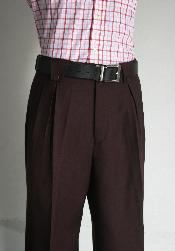 Mens Wide Leg Pants Wine unhemmed unfinished bottom