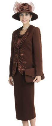 Piece Dress Set Brown
