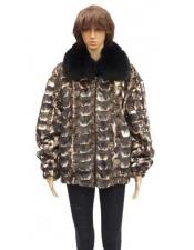 Sheared Genuine Mink Jacket