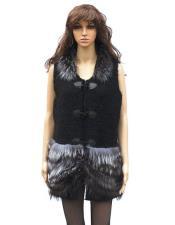 Mink Natural Knitted Vest