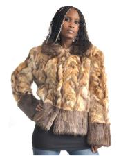 Fur Natural Genuine Sable Jacket With Beaver Trimming