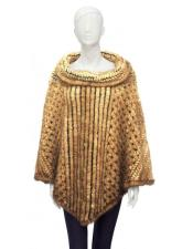 Genuine Knitted Mink Poncho