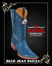 3XToe Lizard Teju Mens Cowboy Boots by Los Altos