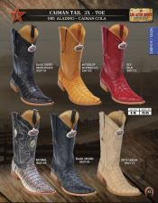 Altos 3X Toe Genuine caiman ~ World Best Alligator ~ Gator Skin Tail Mens Western Cowboy Boots